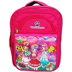 Worldcraft Princess 16 inch Pink Waterproof Children's School Backpack (2girlswidflowerWCArc)