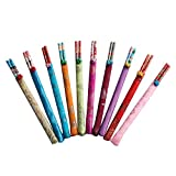 10X Toruiwa Chopsticks Bunte Essstäbchen-Set Chinesische Stil Geschirr Set Essstäbchen aus Bambus