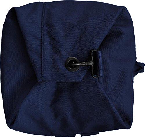 Seesack schwarz mit Doppelgurt 100% Baumwolle ! Marine