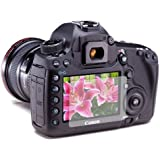 3 x Clear LCD Screen Protectors for Canon EOS 5D Mark 3 III DSLR - Anti-Scratch Guard / Display Savers