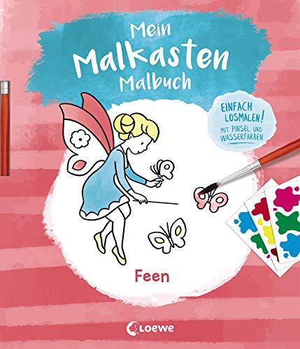 Mein Malkasten-Malbuch - Feen: Einfach losmalen! Mit Pinsel und Wasserfarben