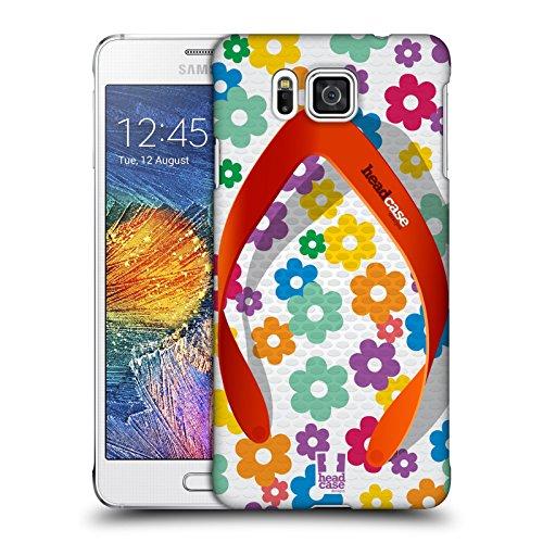 Head Case Designs Blumen Flip Flops Ruckseite Hülle für Samsung Galaxy Alpha (Flip-flops Alpha)
