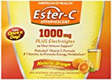 Ester- C Effervescent Plus Electrolytes, 1000 mg, Natural Orange, 21 Packets, 0.35 oz (10 g) Each by American Health