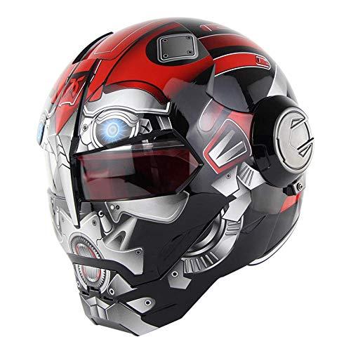 ZHYY D.O.T Certified Casco Motocicleta Motocross Cara