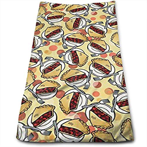 Juzijiang Cherry Pie Polyester Towels Ultra Soft & Absorbent Bathroom Towels - Great Shower Towels, Hotel Towels & Gym Towels 12