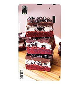 Omnam Cake Lying On Each Other Printed Designer Back Cover Case For Lenovo A7000