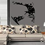 Stycars®, Wall Stickers Snowboard Skiing Wallpaper Skating Board Stickers Boys Bedroom Vinyl Decals Wall Art Mural Poster Home Decor [Size: 57x58cm]