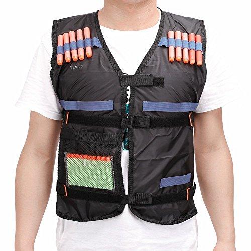 Yosoo Elite Gilet con 20pezzi morbida schiuma Orange freccette con 20pezzi EVA rotonda testa verde Darts giocattolo set per pistola Nerf N-Strike Elite Series