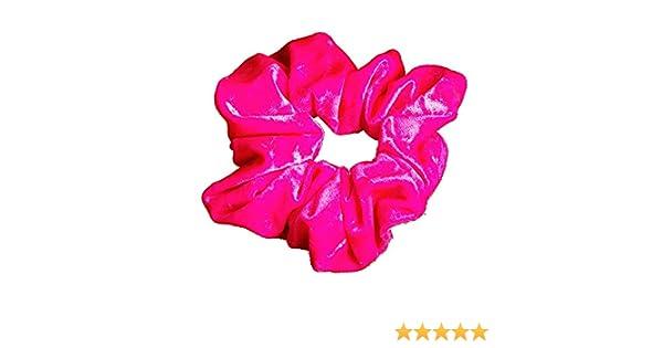 507205fcbb63 Starlite Flo Pink Crushed Velvet Scrunchie: Amazon.co.uk: Clothing