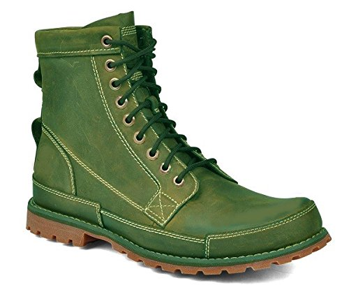 Chaussures bottines model CRUZOE en cuir par HGilliane Design Eu 33 au 46 green