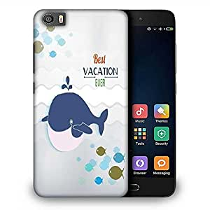 Snoogg summer vector illustration with doodle fishes water sea whale Designer Protective Back Case Cover For Samsung Galaxy J1