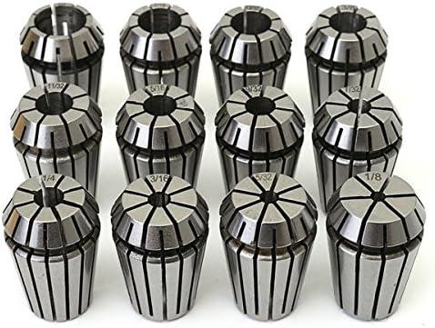 ChaRLes 12Pcs 12Pcs 12Pcs 1/8 à 1/2 pouces ER20 Spring collet Set pour l'outil de fraise tour CNC | Au Premier Rang Parmi Les Produits Similaires  536d5c