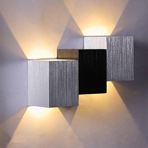 Docooler 2W Lampade da Parete Piazza a Forma in Aluminio AC85-265V Moderna Moda Camera da Letto Cucina Oggettistica per la casa