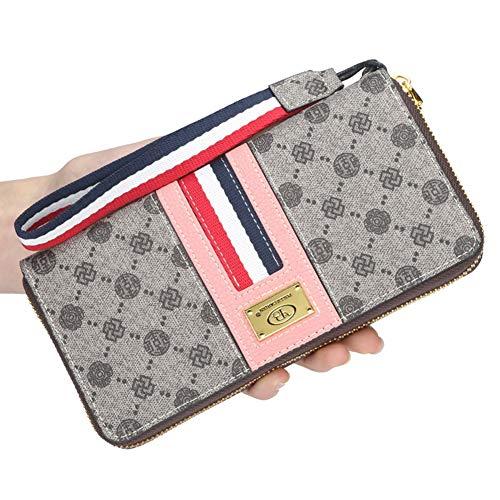 Yehyep Frauen-Handtasche, Lange Multi-Karten-Reißverschluss-Münzen-Taschen-Telefon-Geldbeutel-Designer-weibliche Bankett-Beutel-Art- und Weisefrauenhandtasche,B (Designer-münzen-beutel)