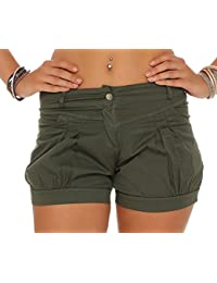 malito Pantalón cortos a Liso Color Verano-Pantalón 6088 Mujer