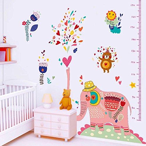 parete-sticker4u-adesivo-da-parete-stadia-pink-elefante-colorato-effetto-immagine-180x-150cm-fiori-o