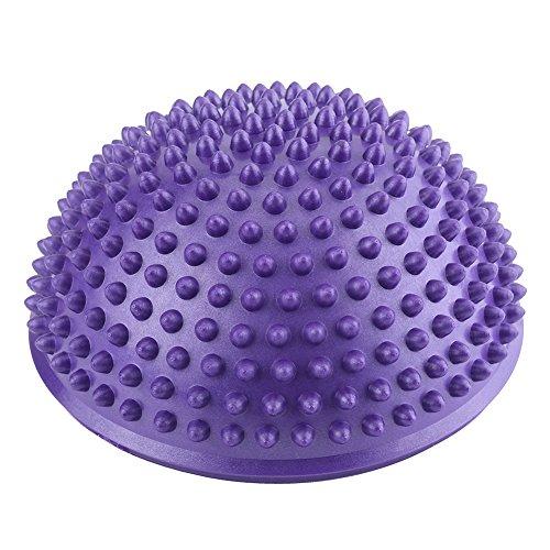 VGEBY Massaggio del Piede Mezzo Sfera Balance Trainer Spiky Roller per Profondo del Piede del Muscolo Terapia (Colore : Viola)