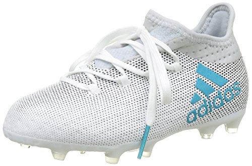 adidas Jungen X 17.1 FG Fußballschuhe Mehrfarbig (FTWR White/Energy Blue S17/clear Grey S12) 38 EU