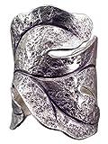 NicoWerk Silberring Breit Blatt Vintage Ring Silber 925 Verstellbar Damenringe Damen Schmuck SRI210