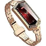 Knowin Smart Watch Fitness Tracker,Wasserdicht IP68 Fitness Armband mit Pulsmesser Farbbildschirm Edelstahl-Armband Aktivitätstracker Pulsuhren Schrittzaehler Uhr Fitness Uhr für Damen Herren