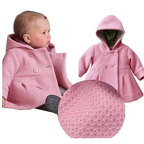 xhorizon® T175 Baby Mädchen Kapuzen Warm Baumwolle Wolle Jacke Trenchcoat Outwear