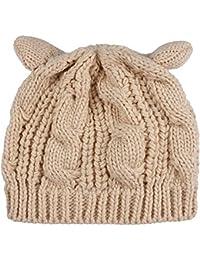 ANSUG Cappello Invernale per Donna con Orecchie da Gatto Caldo Beanie  Berretto in Lana per Esterno 15c185986cd5