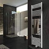 Badheizkörper 1600x500mm 851 Watt Leistung Weiß Handtuchtrockner Heizkörper Bad Mittelanschluss