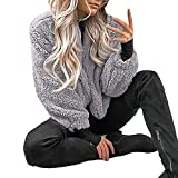 OIKAY Flauschige Mantel Fleece Pelz Jacke Oberbekleidung Damen Winter warme Tasche Hoodies Wrap Damen Jacke jacken Damen Winterjacke