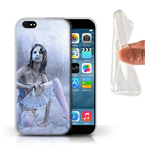 Officiel Elena Dudina Coque / Etui Gel TPU pour Apple iPhone 6S / Balançoire Étang Design / Un avec la Nature Collection Masque d'Hiver