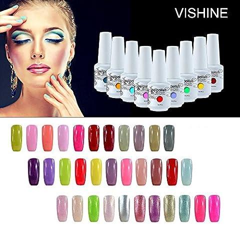 [298 Coloris disponible] Vishine Lot de 12 Flacons Vernis Gel