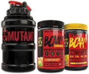 Mutant BCAA 9.7 + BCAA 9.7 Energy + Mega Mug Bundle, Keto Friendly, 9.7g vegan BCAA/EAA and amino acids with E