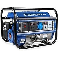 EBERTH 1000 W Generatore di corrente (3 CV Motore a benzina a 4 tempi, Monofase, 1x 230V, 1x 12V, Avviamento a strappo, Regolatore di volt automatico AVR, Protezione da mancanza olio, Voltametro) - Utensili elettrici da giardino - Confronta prezzi