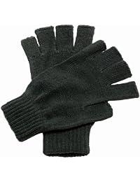 New Ragatta Unisex Fingerless Mitts Knitted Acrylic Winter Warm Gloves One Size