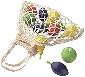 Haba Toys Play Food: Shopping Net with wooden fruits