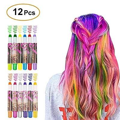 WloveTravel Hair Chalk for Girls Colourful Temporary Hair Chalk Pens