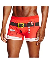 The Christmas Workshop Men's Santa Boxer Shorts