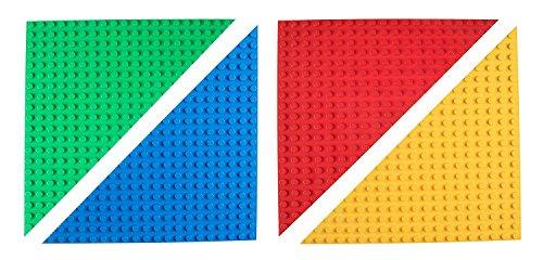 Strictly Briks Big Briks Blau, Grün, Rot und Gelb 31.75cm x 31.75cm Dreieck stapelbare Baseplate...