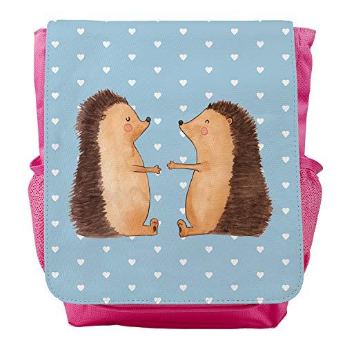 Mr. & Mrs. Panda Kids, Rucksack, Kinderrucksack Igel Liebe - Farbe Blau Pastell