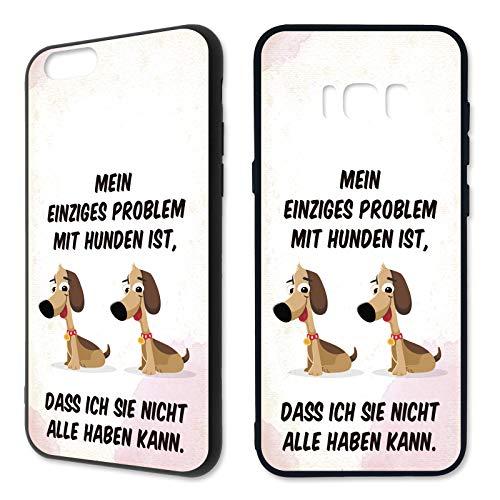 Premium Handyhülle Tierliebe aus Silikon   Hund Katze Pferd Tiere Sprüche Witzig Hundemotiv, Kompatibel mit Handy:Samsung Galaxy J7 (2016), Hüllendesign:Design 1   Silikon Schwarz