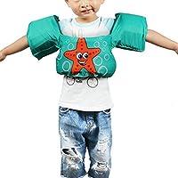 Brazalete Bebé de piscina brazalete hinchable infantil brazalete y cinturón de salvavidas cinturón manguitos 2en 1ayuda a la natación para niños teniendo de 2a 6años, verde