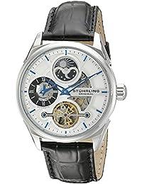 Stührling Original 657.01 - Reloj analógico para hombre, correa de cuero, color negro