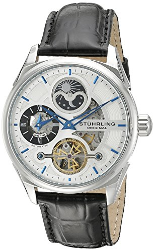 Stuhrling Original Men's 657.01 Delphi Analog Display Automatic Self Wind Black Watch