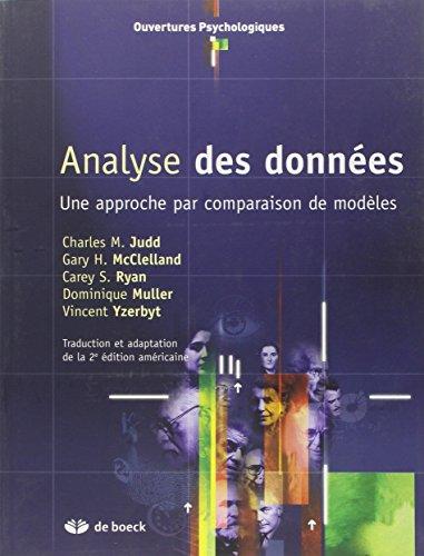 L'analyse de données : une approche par comparaison de modèles