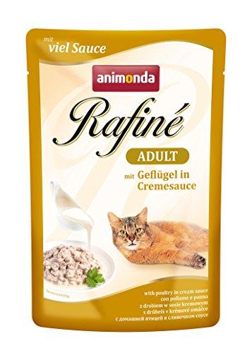 Animonda Rafine Adult Katzenfutter mit Geflügel in Cremesauce, 1er Pack (1 x 1200 g)
