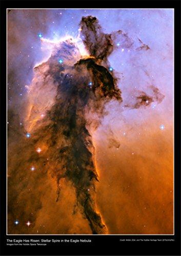 Hubble Teleskop Poster-Der Adler hat Risen: Stellar Spire in the Eagle Nebula-hochwertige Poster PAPIER laminiert [DS13], Papier, a1 (Eagle Nebula Poster)