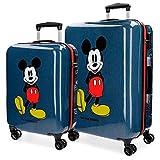 Mickey Blue Blue Rigid Luggage Set 55-68 cm