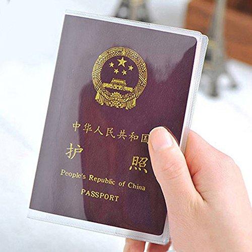 Gezichta passport cover–2tipi impermeabile trasparente porta passaporto copertura di organizzatore di viaggio protector utile come da immagine style1