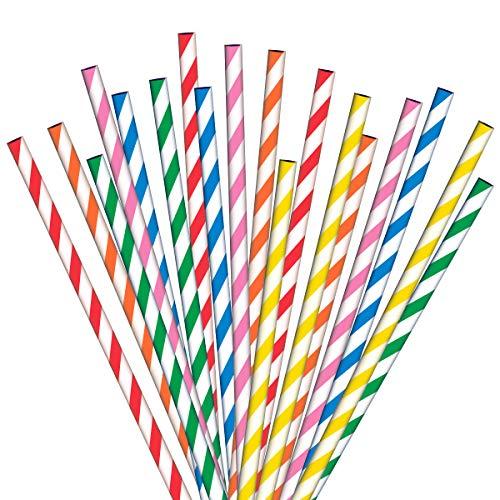 Paper Straws 200 Multicoloured G...