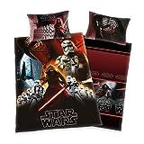 Bettwäsche Star Wars, Kopfkissenbezug 65x100cm, Bettbezug 160x210cm, Renforce, mit Marken RV