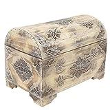 Oriental Galerie Truhe Schatztruhe Dekotruhe Dekokiste Box Blumen Kiste Weiß Shabby Chic Landhausstil 50cm